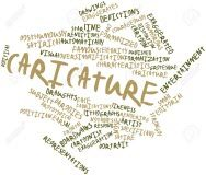 ۱۶۹۸۲۷۱۴-Abstract-word-cloud-for-Caricature-with-related-tags-and-terms-Stock-Photo